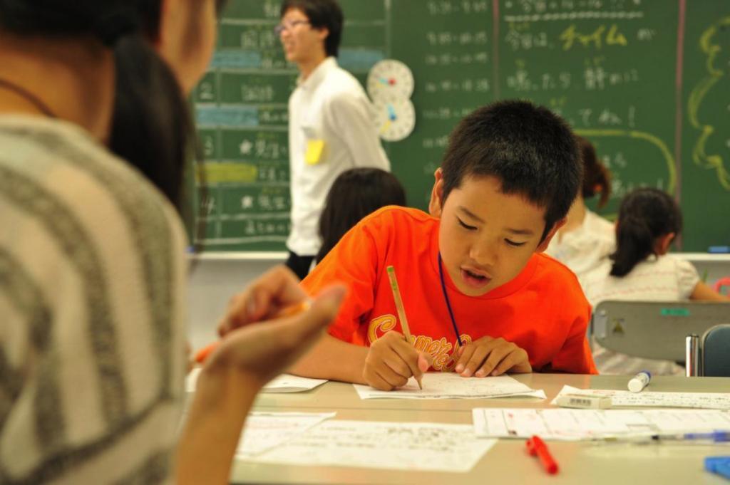 寺子屋で学ぶ子ども(男子)