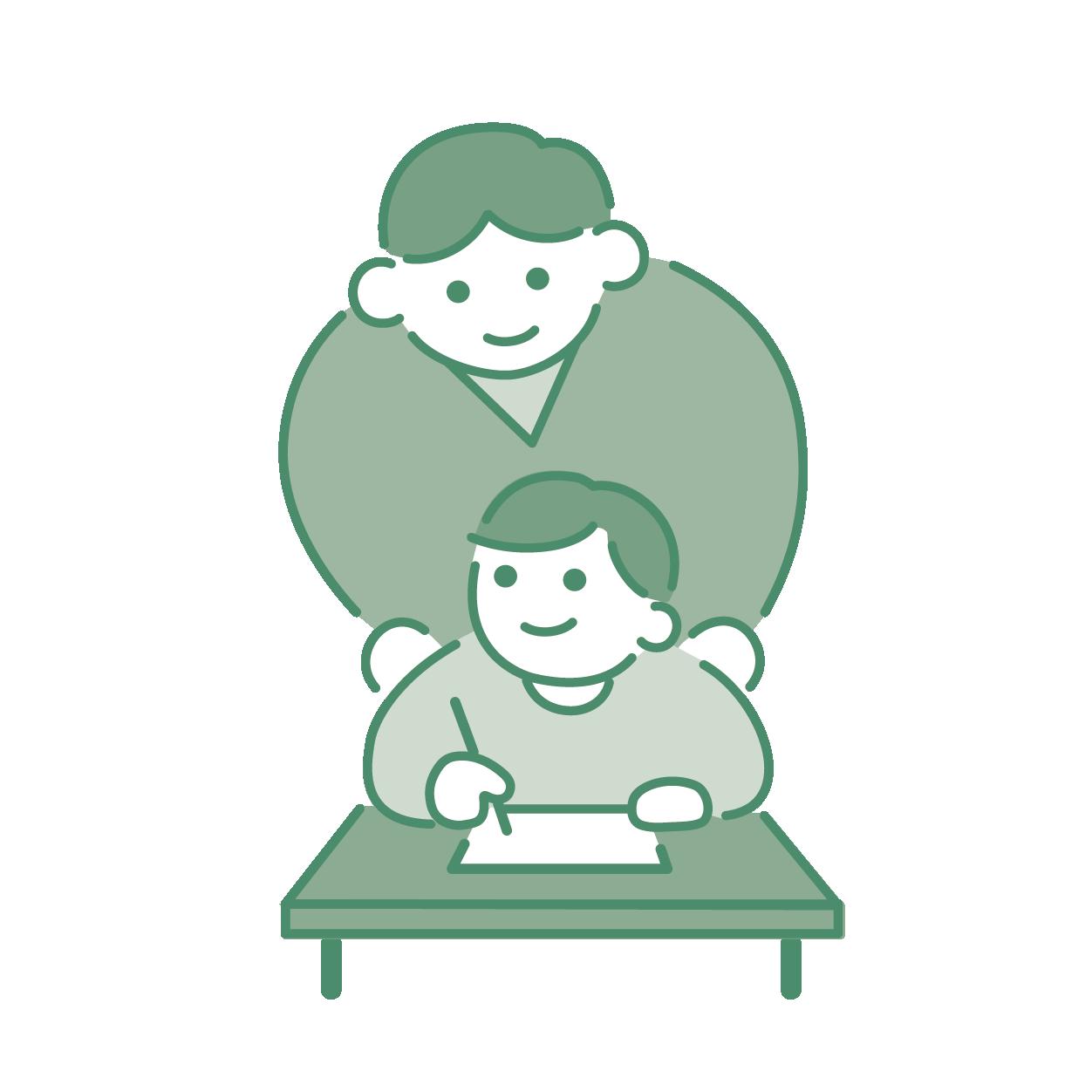 LFAパンフ:学習する子どもと見守る教師